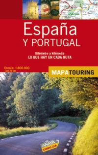 MAPA DE CARRETERAS DE ESPAÑA Y PORTUGAL 1:800.000 - (DESPLEGABLE)