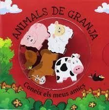 KIT ANIMALES DE LA GRANJA LIBRO + FIGURAS DE MADERA