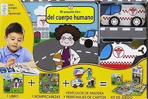 KIT MI PEQUEÑO HOSPITAL LIBRO + ROMPECABEZAS + FIGURAS DE MADERA