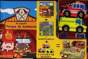 MI PEQUEÑO LIBRO SOBRE PARQUE DE BOMBEROS LIBRO+ROMPECABEZAS+FIGURAS