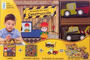 KIT MI PEQUEÑA ZONA DE OBRAS LIBRO + ROMPECABEZAS + FIGURAS DE MADERA