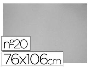 LAMINA CARTON 75X105 2  MM Nº20 COLOR GRIS