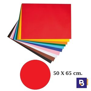 CARTULINA 50 X 65 CM ROJO CANSON