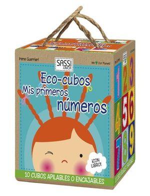 KIT ECO-CUBITOS : LIBRO MIS PRIMEROS NÚMEROS + 10 CUBOS APILABLES MIS PRIMEROS NUMEROS