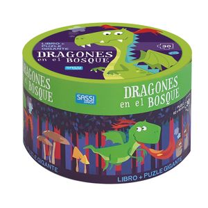 KIT DRAGONES EN EL BOSQUE LIBRO + PUZZLE