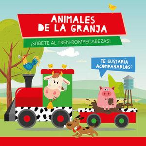 ANIMALES DE GRANJA (TREN ROMPECABEZAS)