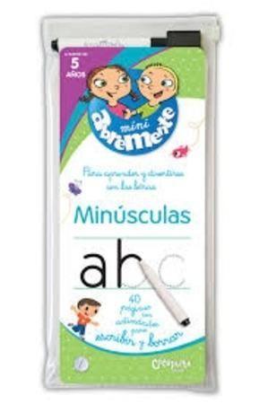 ABREMENTE PARA ESCRIBIR Y BORRAR - MINUSCULAS - LIBRO MINUSCULAS