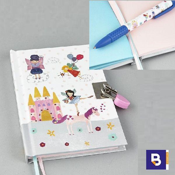 Diario Con Boligrafo Floss Rock Hada Y Unicornio 34p2308 Breapaper