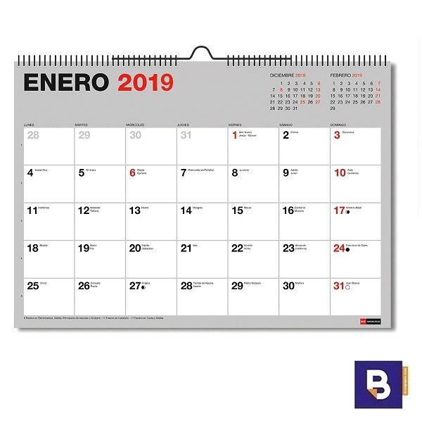 Calendario Para Escribir.Calendario De Pared Miquelrius A3 Para Escribir Espiral Mes A La Vista 28014 Breapaper