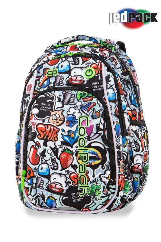 MOCHILA MEDIANA 38 CM. CON LEDS COOLPACK STRIKE S GRAFFITI 19L LED PACK A18201