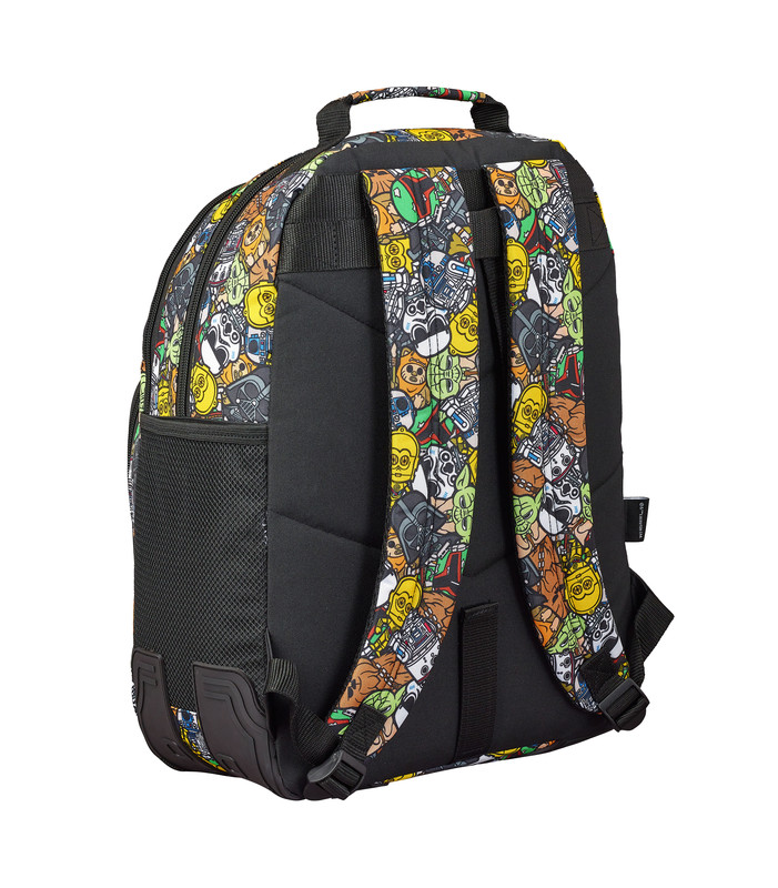 MOCHILA DOBLE 42CM SAFTA ADAPTABLE A CARRO STAR WARS GALAXY 611901773