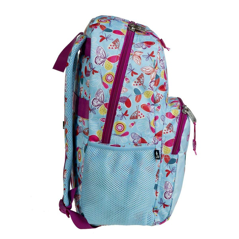 MOCHILA 45CM BUSQUETS ADAPTABLE A CARRO DREAMS AZUL MARIPOSAS 17.063.09230.0